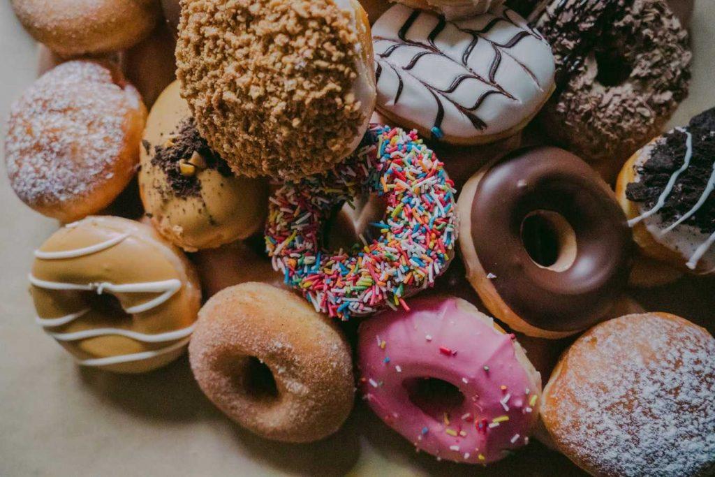 gateau et donuts à indice glycémique haut