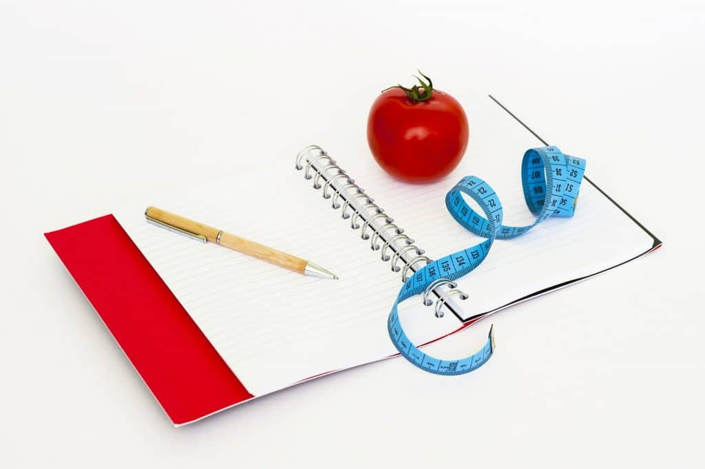 Cahier pour suivre son alimentation