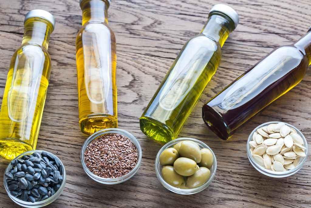 différentes huiles sources de bons lipides