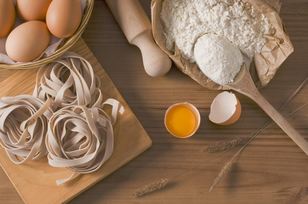 pâtes oeufs protéines