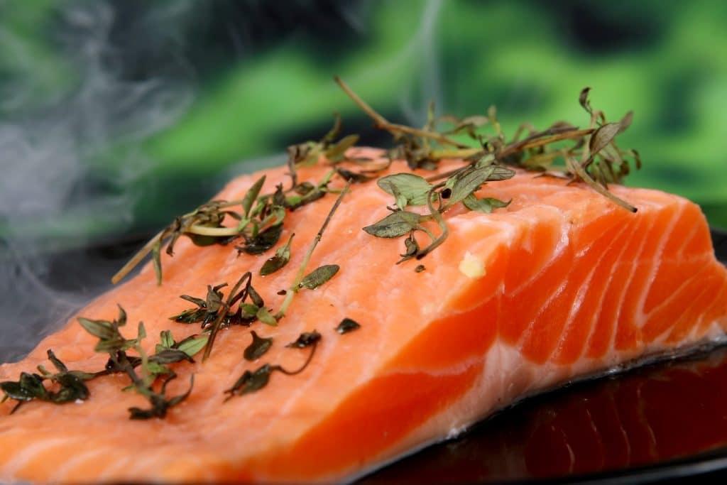 poisson saumon protéine