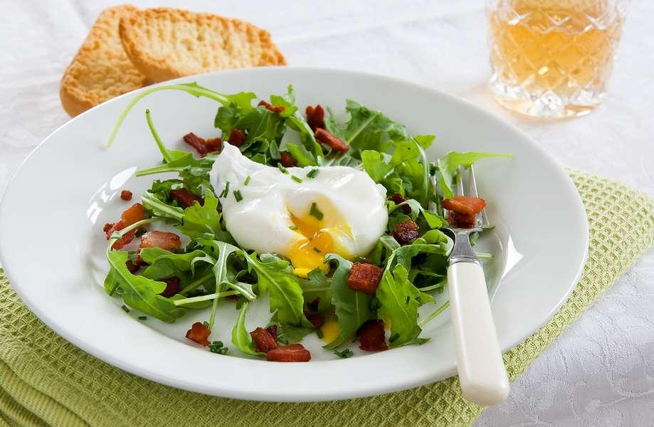 salade avec oeuf poché