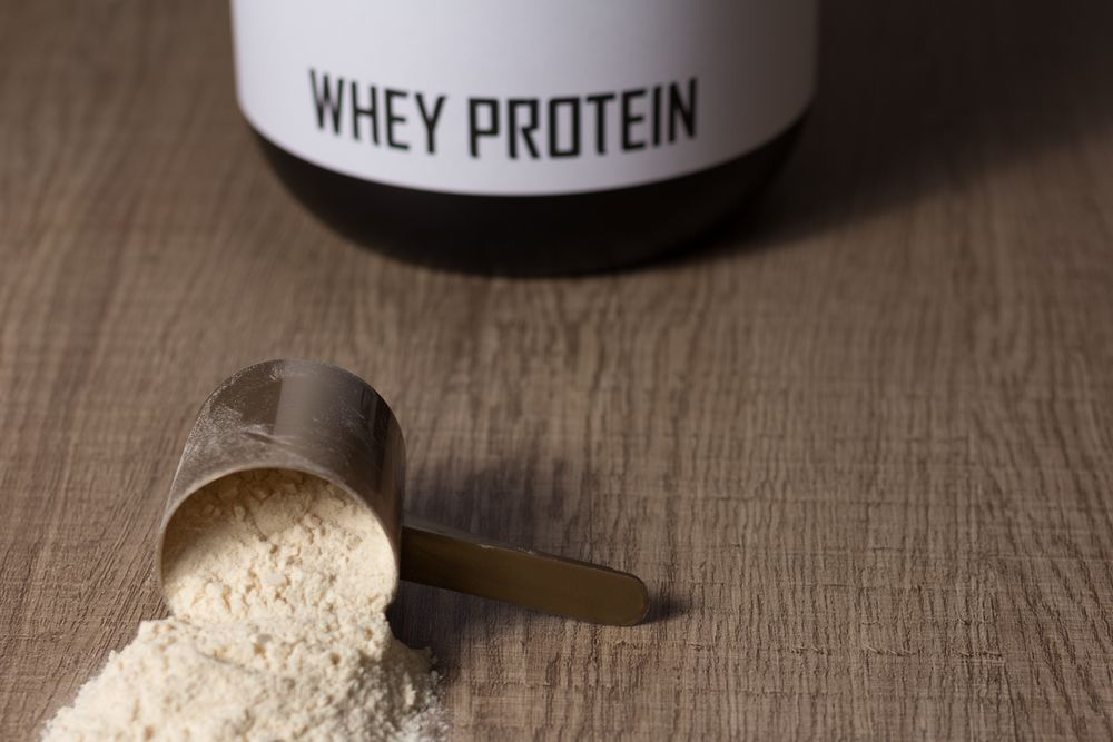 protéine whey sur table