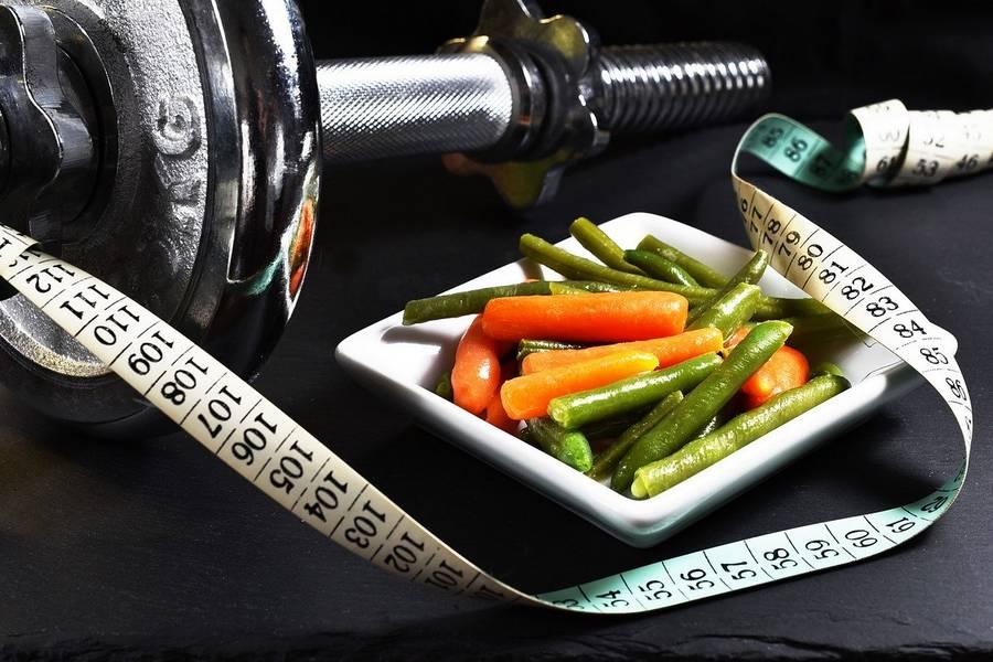 regime low carb légume et barre fitness